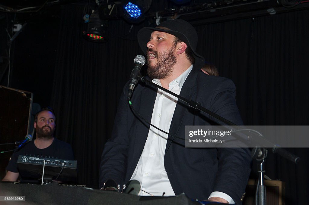 Robbie Rush (L) and BC Camplight of BC Camplight perform on stage at The Lexington on May 30, 2016 in London, England.