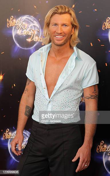 Robbie Savage arrives at the Strictly Come Dancing 2011 press launch at BBC Television Centre on September 7 2011 in London England