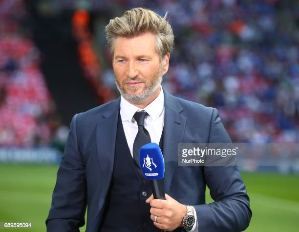 Robbie Savage during The Emirates FA Cup Final between Arsenal against Chelsea at Wembley Stadium on May 27 2017 England