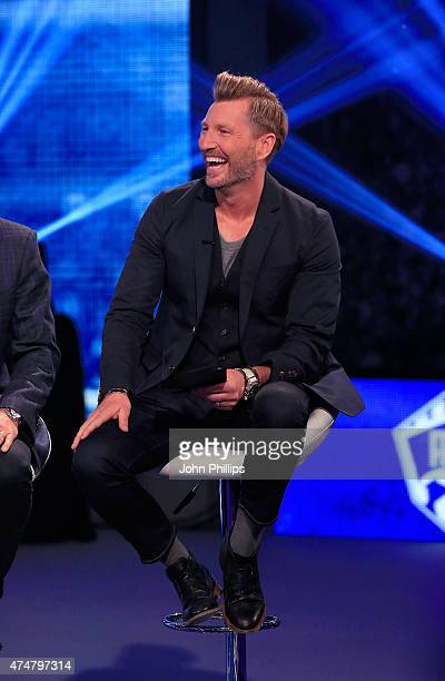 Robbie Savage during the live broadcast of the inaugural Facebook Football Awards on May 26 2015 in London England