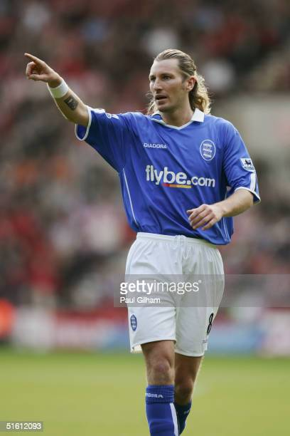 Robbie Savage of Birmingham City in action during the Barclays Premiership match between Southampton and Birmingham City at St Mary's Stadium on...