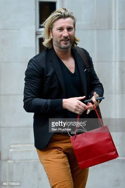 Robbie Savage sighted at BBC Radio Studios on January 15 2014 in London England