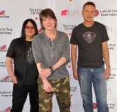 Robbie Takac John Rzeznik and Mike Malinin of Goo Goo Dolls attend the Trinchero Family Estates for a QA at Live In The Vineyards on April 6 2013 in...