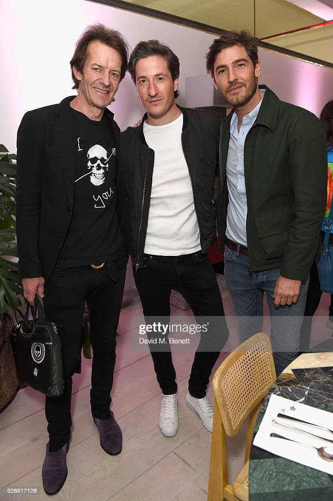 Robbie Uniacke, Blaise Patrick and Robert Konjic attend a private dinner hosted by M.i.h Jeans to celebrate their 10th anniversary at Brewer Street Car Park on May 5, 2016 in London, England.