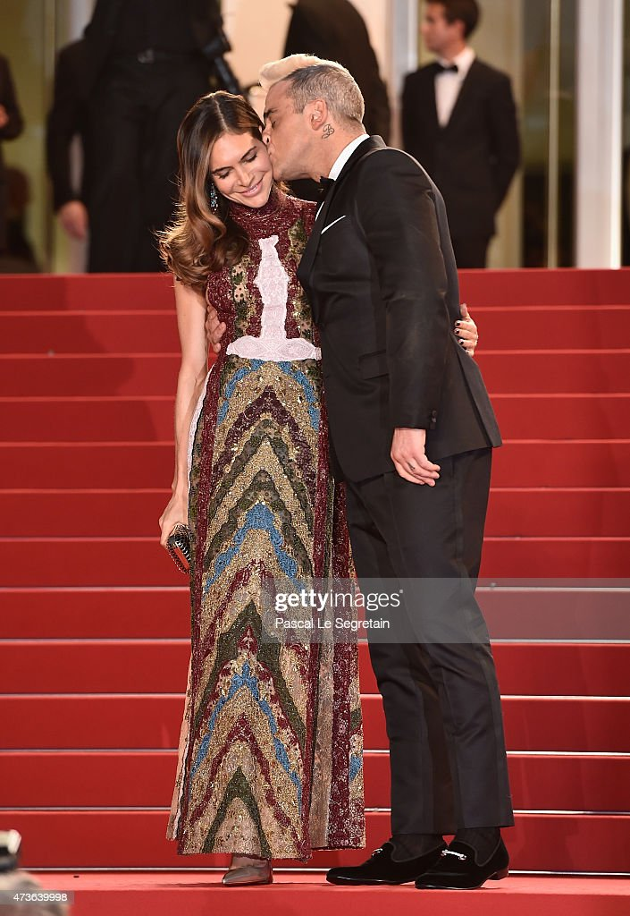 Robbie Williams and Ayda Field attend the Premiere of 'The Sea Of Trees' during the 68th annual Cannes Film Festival on May 16, 2015 in Cannes, France.