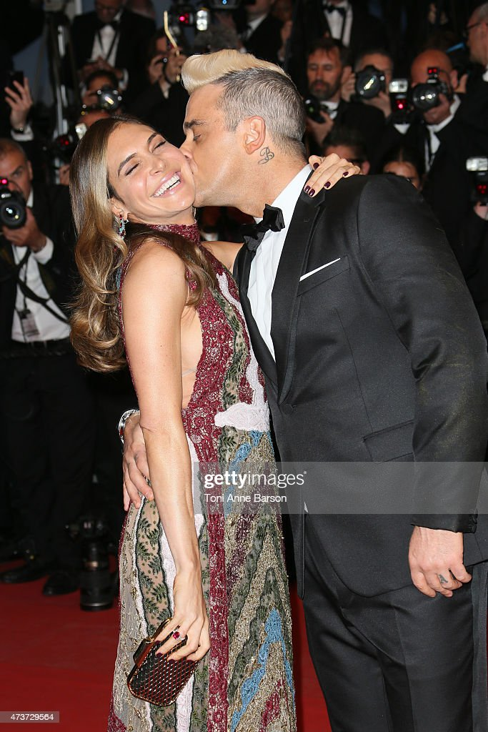 Robbie Williams and Ayda Field attend the 'Sea Of Trees' premiere during the 68th annual Cannes Film Festival on May 16 2015 in Cannes France