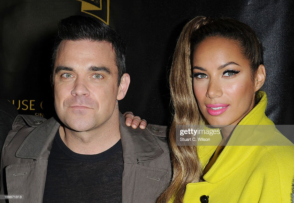 Robbie Williams and Leona Lewis attend the Oxford Street Christmas Lights switching on on November 5, 2012 in London, England.