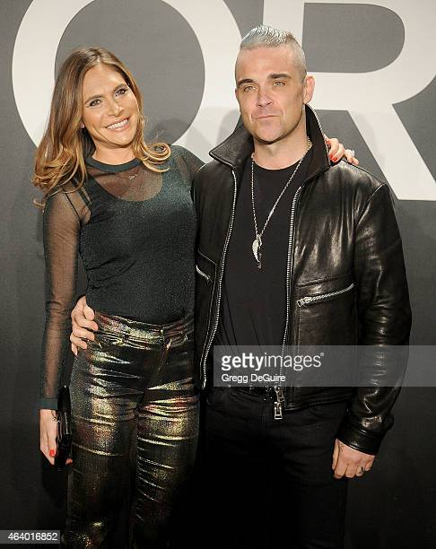 Robbie Williams and wife Ayda Field arrive at the Tom Ford Autumn/Winter 2015 Womenswear Collection Presentation at Milk Studios on February 20 2015...