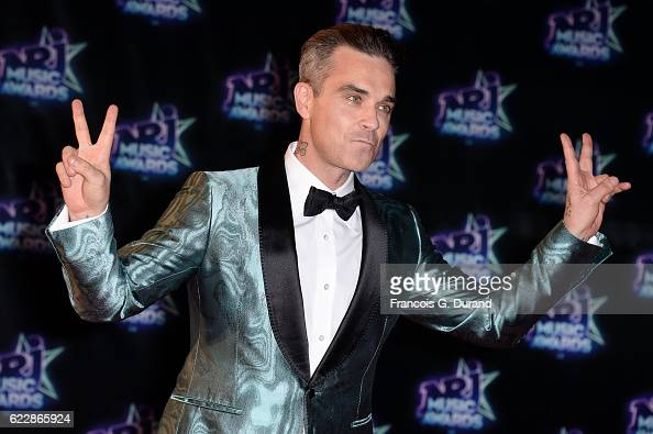 Robbie Williams attends the 18th NRJ Music Awards at Palais des Festivals on November 12 2016 in Cannes France