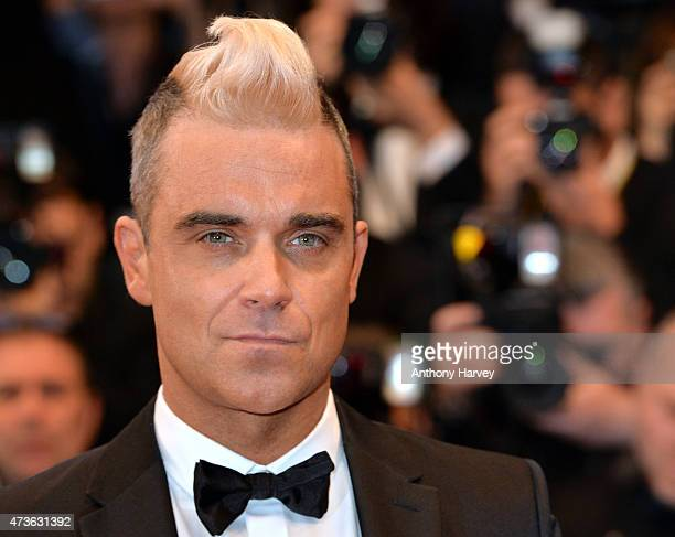Robbie Williams attends the 'Sea Of Trees' premiere during the 68th annual Cannes Film Festival on May 16 2015 in Cannes France