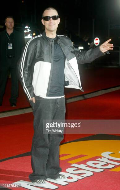 Robbie Williams during Brit Awards 2005 Arrivals at Earls Court 2 in London Great Britain