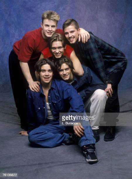Robbie Williams Gary Barlow Mark Owen Jason Orange and Howard Donald of Take That