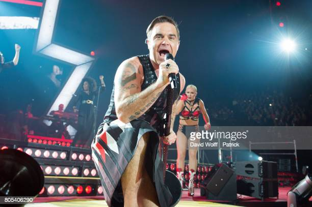 Robbie Williams performs at AccorHotels Arena on July 1 2017 in Paris France