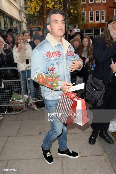 Robbie Williams sighting at BBC Radio 2 on December 8 2017 in London England