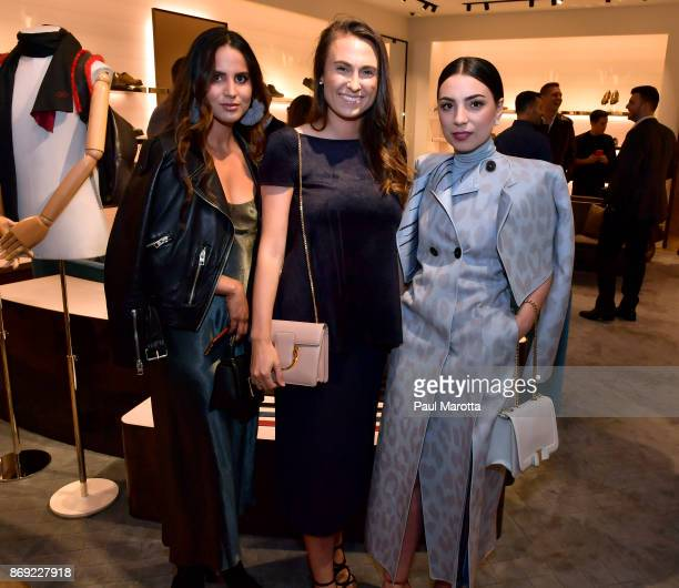 Robbin Mangano and Abby Matses attend the Opening of the Salvatore Ferragamo Copley Place store on November 2 2017 in Boston Massachusetts
