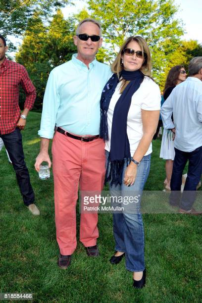 Robby Browne and Lorraine Bracco attend GODS LOVE WE DELIVERMid Summer Night Drinks Benefit at Home of Chad A Leat on June 19 2010 in Bridgehampton...