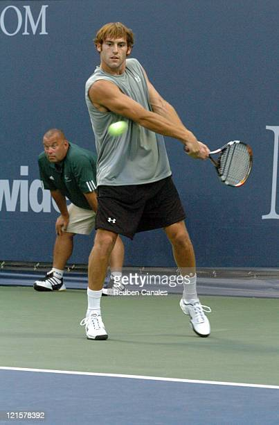 Robby Ginepri is defeated by Gilles Muller in the third round of the MercedesBenz Cup on the UCLA Tennis Center Westwood California on July 29 2005