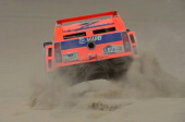 Robby Gordon and copilot Kellon Walch of team Hummer compete during the stage from Pisco to Pisco on day two of the 2013 Dakar Rally on January 6...