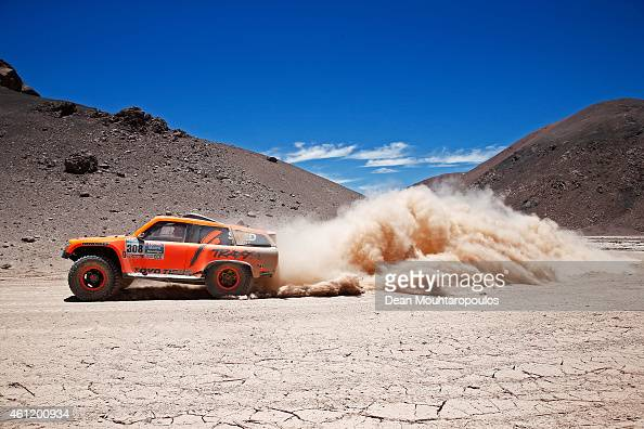 Robby Gordon and Johnny Campbell of the USA driving for Speed Energy Racing HST Hummer compete during day 5 of the Dakar Rallly on January 8 2015...