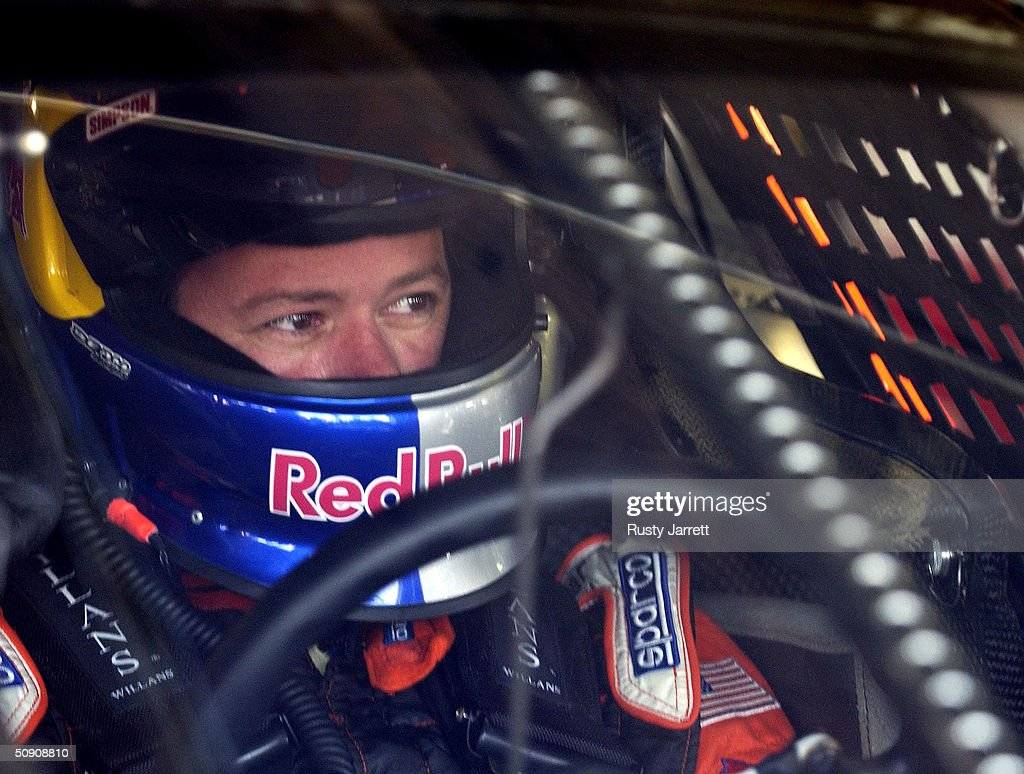 Robby Gordon driver of the Richard Childress Chevrolet during practice for the Coca Cola 600 on May 29 2004 at Lowes Motor Speedway in Concord North...