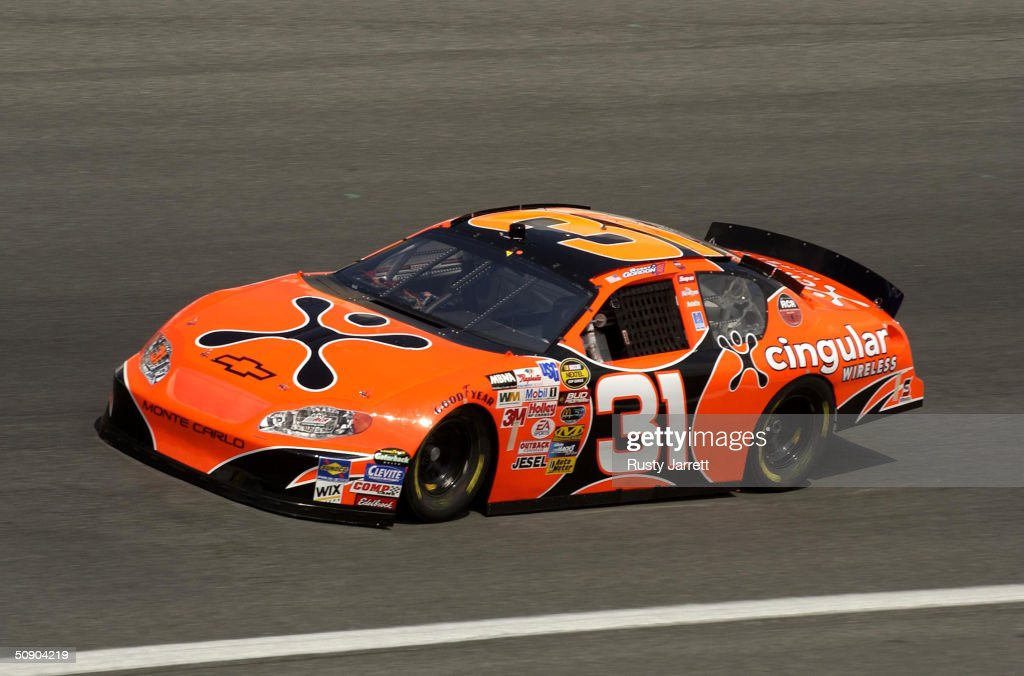 Robby Gordon driver of the Richard Childress Racing Chevrolet during practice for the Coca Cola 600 on May 27 2004 at Lowes Motor Speedway in Concord...