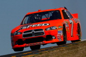 Robby Gordon driver of the Speed Energy Dodge qualifies for the NASCAR Sprint Cup Series Toyota/Save Mart 350 at Infineon Raceway on June 24 2011 in...