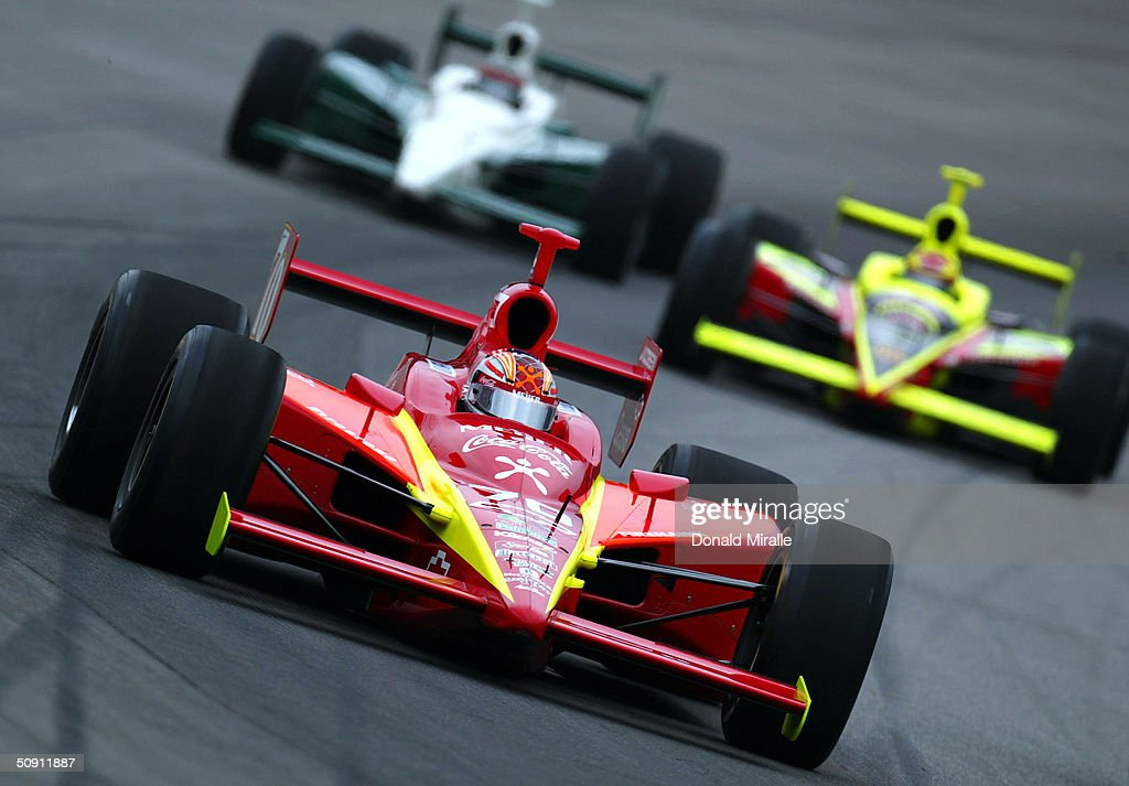 Robby Gordon drives his Meijer/CocaCola Dallara Chevrolet during the 88th Indianapolis 500 at the Indianapolis Motor Speeday on May 30 2004 in...