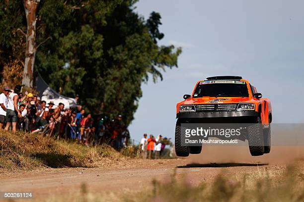 Robby Gordon of the United States of America and Kellon Walch of the United States of America in the GORDINI SC1 for TEAM SPEED ENERGY competes in...