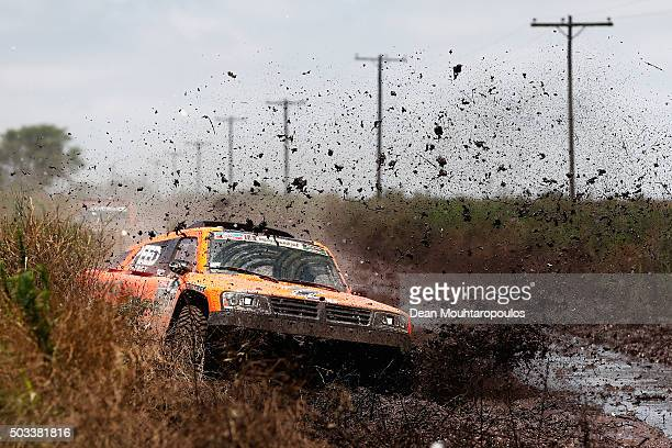 Robby Gordon of the United States of America and Kellon Walch of the United States of America in the GORDINI SC1 for TEAM SPEED ENERGY power through...