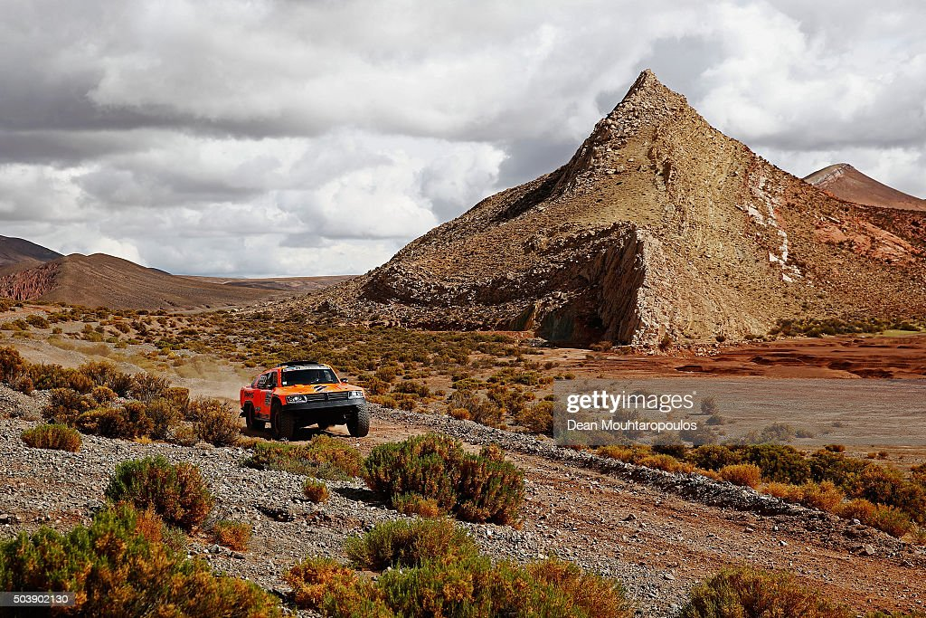 Robby Gordon of the United States of America and Kellon Walch of the United States of America in the GORDINI SC1 for TEAM SPEED ENERGY compete on day 4 and the San Salvador de Jujuy stage four of the 2016 Dakar Rally on January 6, 2016 close to Purmamarca, Argentina.