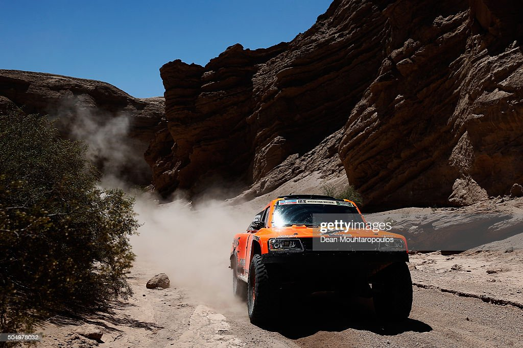 Robby Gordon of the United States of America and Kellon Walch of the United States of America in the GORDINI SC1 for TEAM SPEED ENERGY compete on day 12 / stage eleven between La Rioja to San Juan during the 2016 Dakar Rally on January 14, 2016 near San Juan, Argentina.