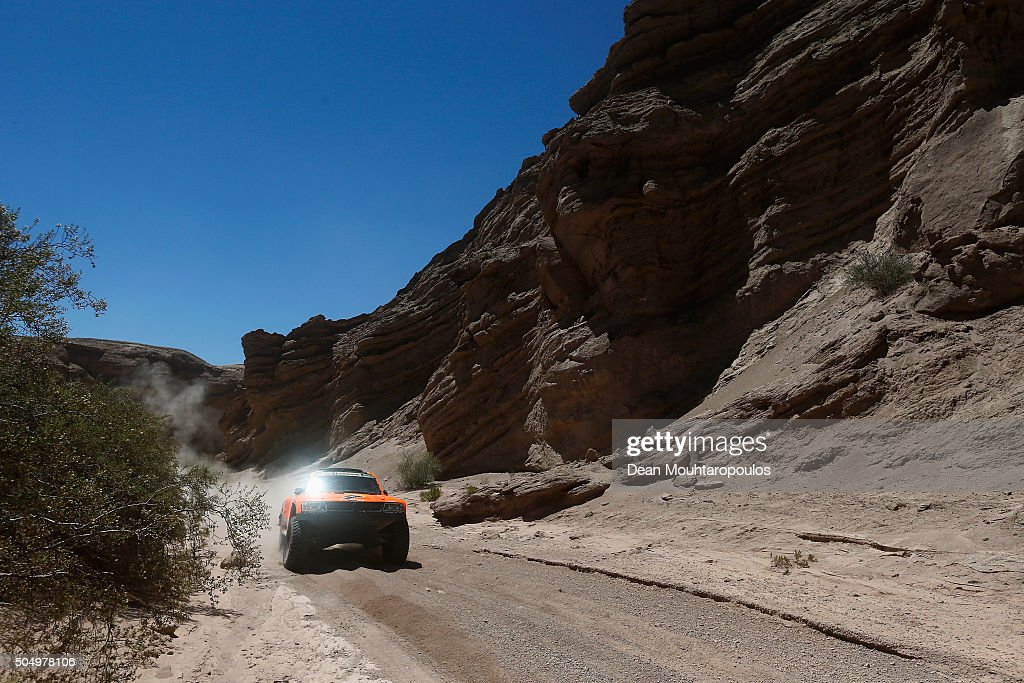 <a gi-track='captionPersonalityLinkClicked' href=/galleries/search?phrase=Robby+Gordon&family=editorial&specificpeople=165241 ng-click='$event.stopPropagation()'>Robby Gordon</a> of the United States of America and Kellon Walch of the United States of America in the GORDINI SC1 for TEAM SPEED ENERGY compete on day 12 / stage eleven between La Rioja to San Juan during the 2016 Dakar Rally on January 14, 2016 near San Juan, Argentina.