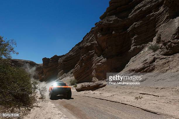 Robby Gordon of the United States of America and Kellon Walch of the United States of America in the GORDINI SC1 for TEAM SPEED ENERGY compete on day...
