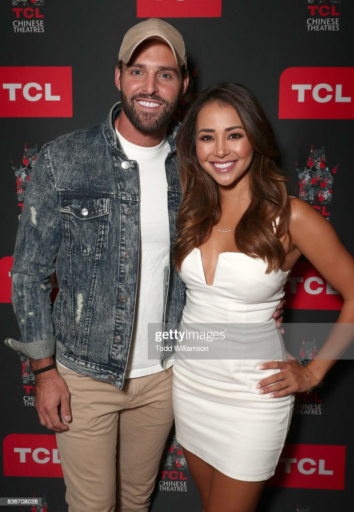 Robby Hayes and Danielle Lombard host a 'Bachelor In Paradise' Viewing Party on August 21, 2017 in Los Angeles, California.