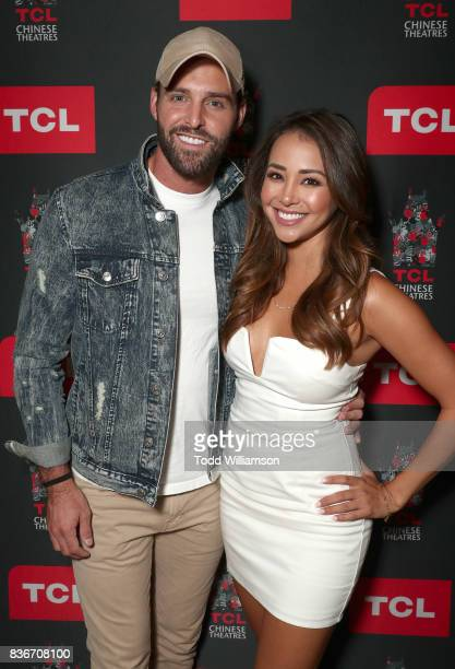 Robby Hayes and Danielle Lombard host a 'Bachelor In Paradise' Viewing Party on August 21 2017 in Los Angeles California