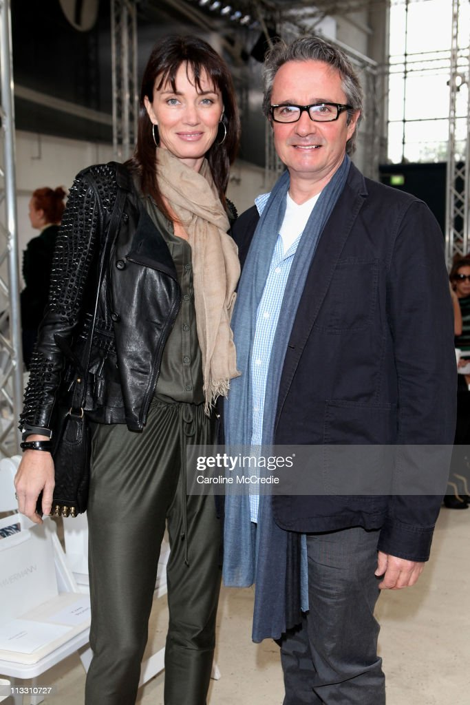 Robby Ingham and Sarah Ingham arrive at the Zimmerman catwalk show during Rosemount Australian Fashion Week Spring/Summer 2011/12 at The Classic Throttle Shop on May 2, 2011 in Sydney, Australia.