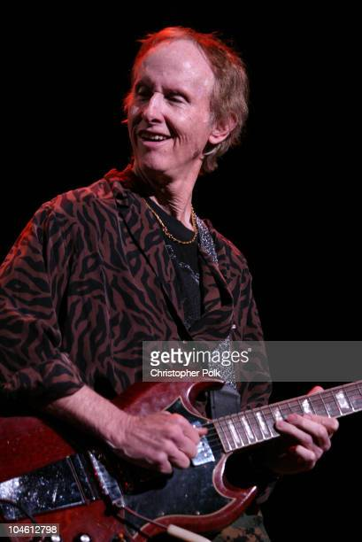 Robby Krieger during The Doors perform live at the Universal Amphitheater at Universal Amphitheater in Universal City CA United States