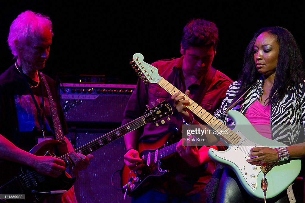 <a gi-track='captionPersonalityLinkClicked' href=/galleries/search?phrase=Robby+Krieger&family=editorial&specificpeople=1846343 ng-click='$event.stopPropagation()'>Robby Krieger</a>, Mato Nanji, and <a gi-track='captionPersonalityLinkClicked' href=/galleries/search?phrase=Malina+Moye&family=editorial&specificpeople=797314 ng-click='$event.stopPropagation()'>Malina Moye</a> perform as part of the Experience Hendrix Tribute at ACL Live on March 24, 2012 in Austin, Texas.