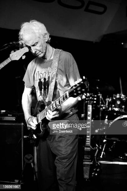 Robby Krieger performs at the Good Hurt nightclub in Los Angeles California on September 27 2011