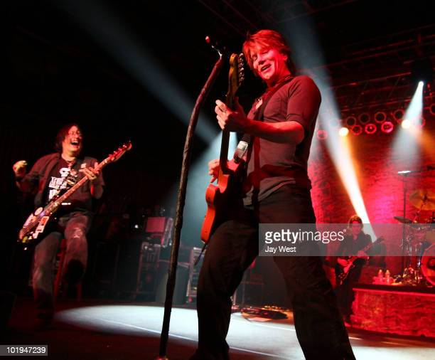 Robby Takac and John Rzeznik of Goo Goo Dolls perform at Austin Music Hall on June 9 2010 in Austin Texas