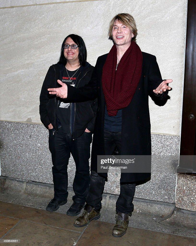 Robby Takac (L) and John Rzeznik of the Goo Goo Dolls arrive at the 81st annual Rockefeller Center Christmas Tree Lighting Ceremony on December 4, 2013 in New York City.