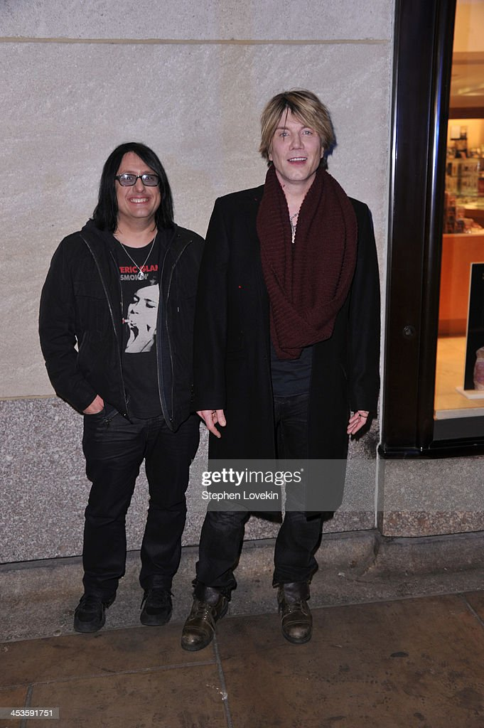 Robby Takac and John Rzeznik of the Goo Goo Dolls arrives during 81st Annual Rockefeller Center Christmas Tree Lighting Ceremony at Rockefeller...