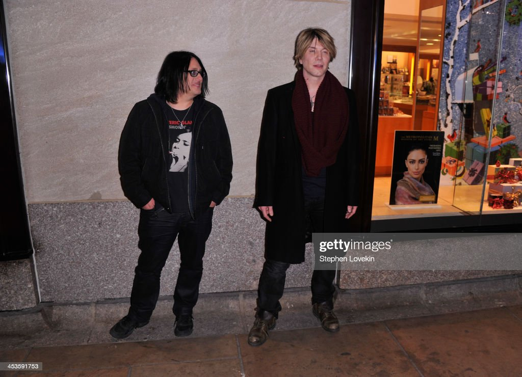 Robby Takac and John Rzeznik of the Goo Goo Dolls arrives during 81st Annual Rockefeller Center Christmas Tree Lighting Ceremony at Rockefeller Center on December 4, 2013 in New York City.
