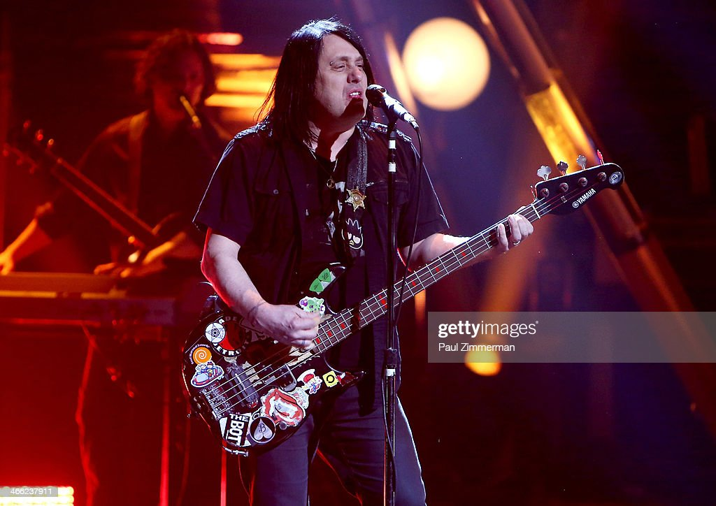Robby Takac of band the Goo Goo Dolls performs during VH1's 'Super Bowl Blitz: Six Nights + Six Concerts' at St. George Theatre on January 31, 2014 in the Staten Island borough of New York City.
