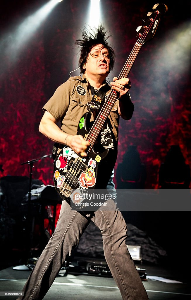 Robby Takac of Goo Goo Dolls performs on stage at Brixton Academy on November 13, 2010 in London, England.