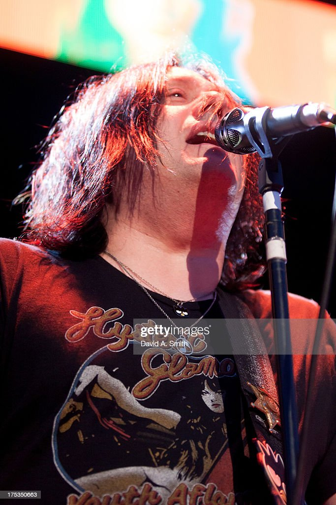 Robby Takac of Goo-Goo Dolls performs at the Verizon Wireless Music Center on August 2, 2013 in Birmingham, Alabama.