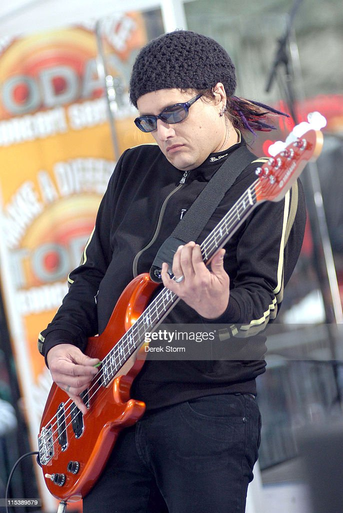 Robby Takac of the Goo Goo Dolls during Goo Goo Dolls Perform on the 'Today' Show October 10 2005 at 'Today' Show Studios in New York City New York...