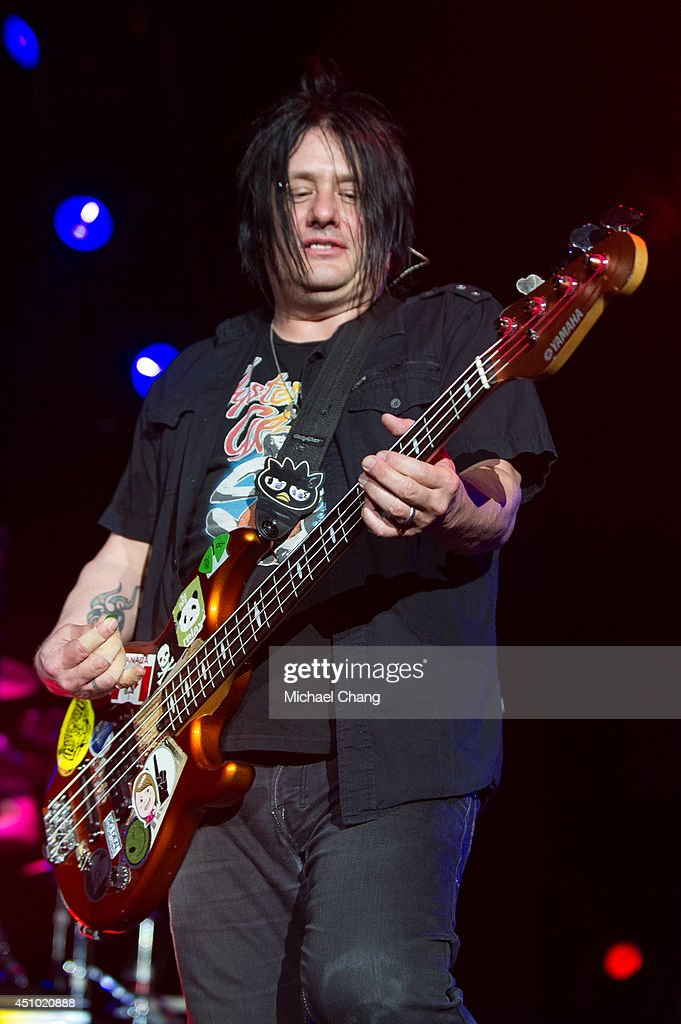 Robby Takac of the Goo Goo Dolls perform in concert at The Amphitheater at the Wharf on June 21 2014 in Orange Beach Alabama