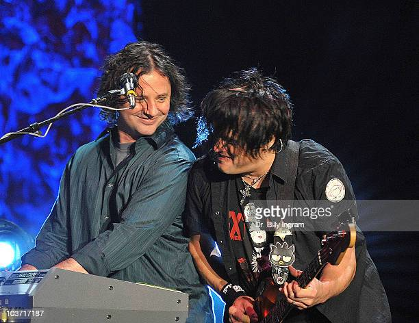 Robby Takac of the Goo Goo Dolls perform in concert at the Greek Theatre on August 29 2010 in Los Angeles California