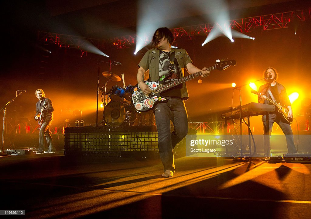 Robby Takac of The Goo Goo Dolls performs at the Meadow Brook Music Festival on July 17, 2011 in Rochester, Michigan.